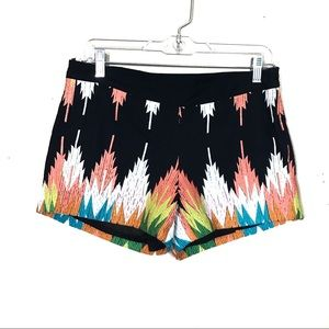 Judith March Black Tribal Embroidered Shorts S